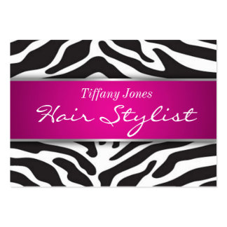Zebra Print Cosmetology Appointment Card Large Business Card