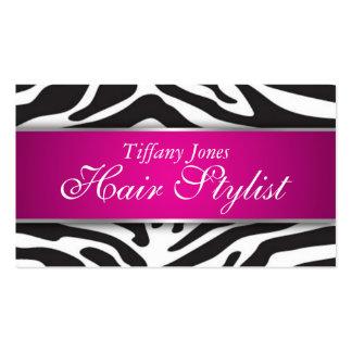 Zebra Print Cosmetology Business Card