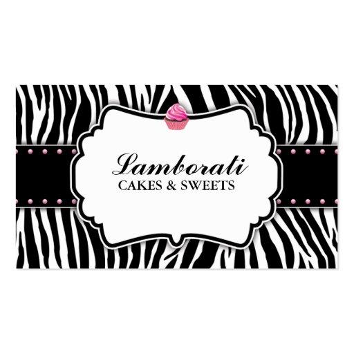 Pink zebra font zebra print cupcake bakery