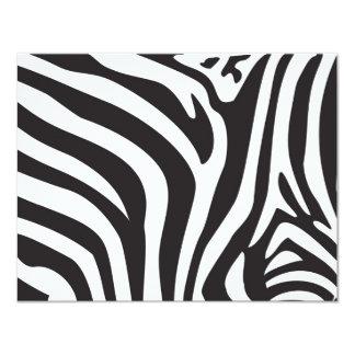 Zebra Print Custom Invite