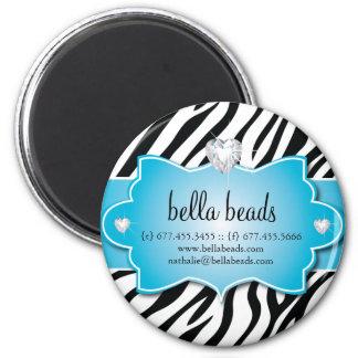 Zebra Print Custom Magnet