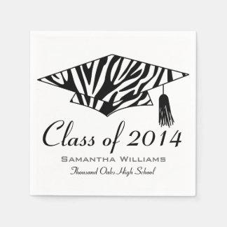 Zebra Print Custom Name Graduation Napkins