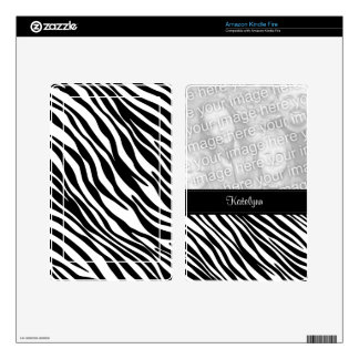 Zebra Print Custom Photo Kindle Skin
