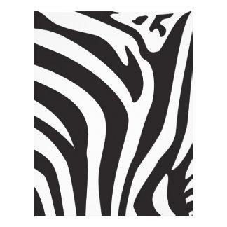 Zebra Print Customized Letterhead