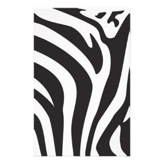 Zebra Print Customized Stationery