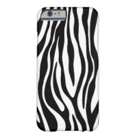 Zebra Print Design Barely There iPhone 6 Case