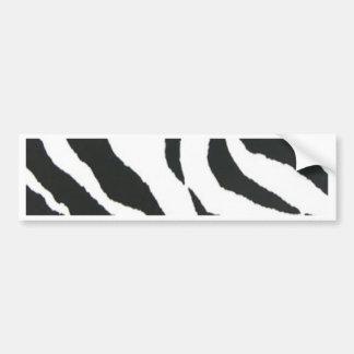 zebra print design car bumper sticker