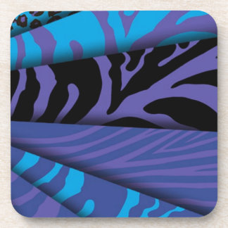 Zebra Print Different colors Add Text Drink Coasters