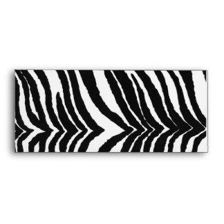 Zebra Print Envelope