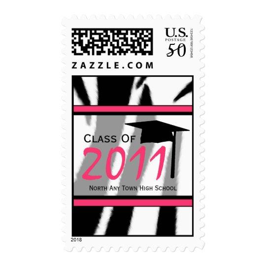 Zebra Print Fashion Graduation Postage Stamp 2011