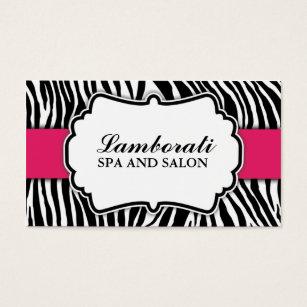 Zebra print business cards templates zazzle zebra print fashion hot pink elegant modern classy business card colourmoves