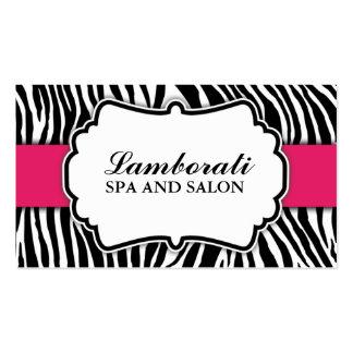 Zebra Print Fashion Hot Pink Elegant Modern Classy Business Card Templates