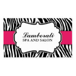 Zebra Print Fashion Hot Pink Elegant Modern Classy Double-Sided Standard Business Cards (Pack Of 100)