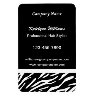 Zebra Print Flexible Magnetic 4 x 6 Business Cards Magnet