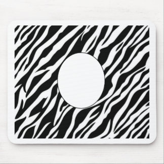 zebra print frame add photo or text mouse pads