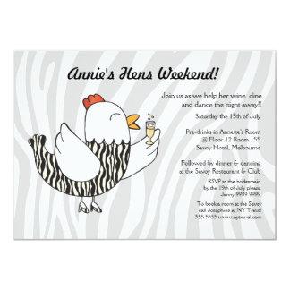 Zebra Print Funny Hen - Hens Party Bachelorette Card