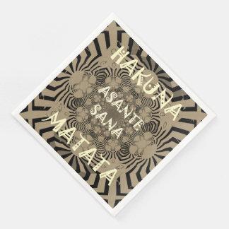 Zebra Print Hakuna Matata Text Paper Dinner Napkin