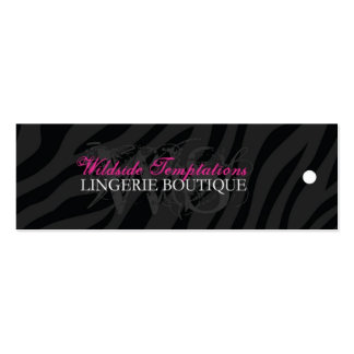 Zebra Print Hang Tags for WS Mini Business Card