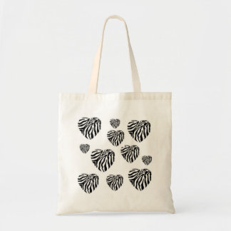 Zebra Print Hearts Bag