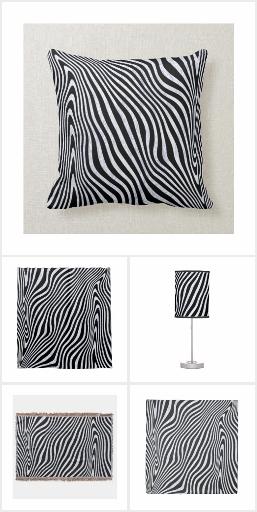 Zebra Print Home Decor