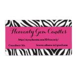 Zebra Print & Hot Pink Business Label