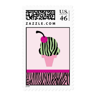 Zebra Print Ice Cream Postage