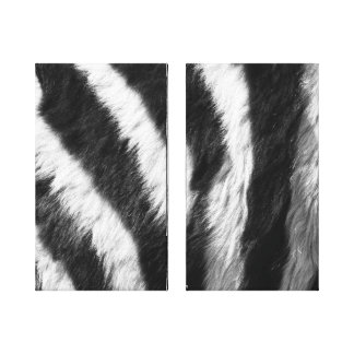 Zebra Print In Black and White Canvas Prints