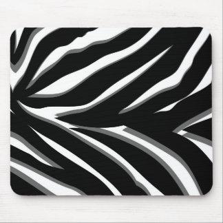 Zebra Print in Black & White Mouse Pad