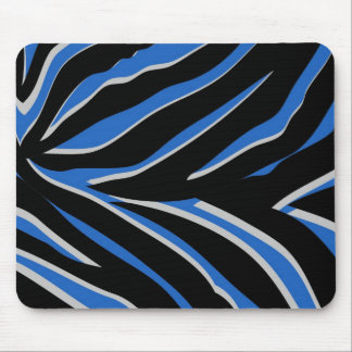 Zebra Print in Blue Mouse Pad