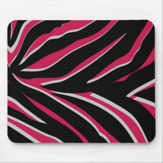 Zebra Print in Pink Mouse Pad
