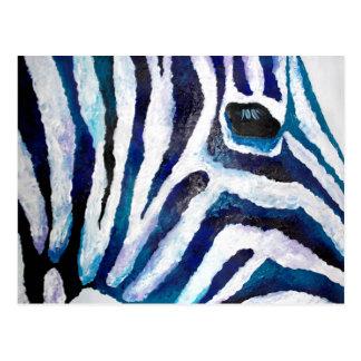 Zebra Print in Purple and Teal (K.Turnbull Art) Postcard