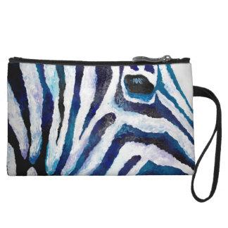Zebra Print in Purple and Teal (K.Turnbull Art) Wristlet Wallet