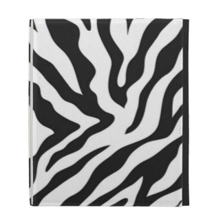 Zebra Print iPad Folio Case