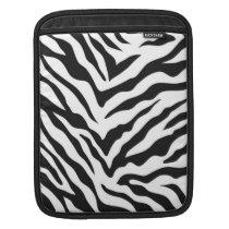 Zebra Print iPad Sleeve - Vertical