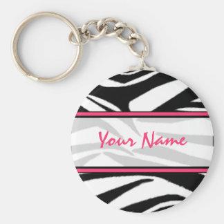 Zebra Print Keychain