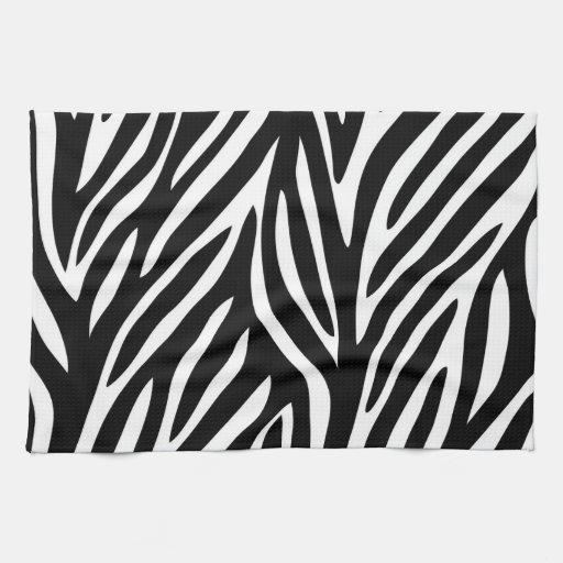 Zebra print kitchen towels zazzle for Zebra kitchen set