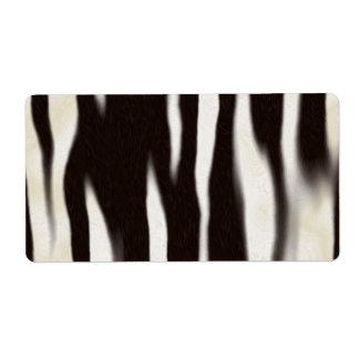 Zebra Print Custom Shipping Labels