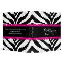 "Zebra Print & Lace Elegant 1.5"" Binder"