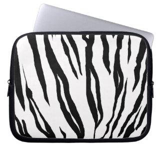 "Zebra Print Laptop Sleeve 10"""