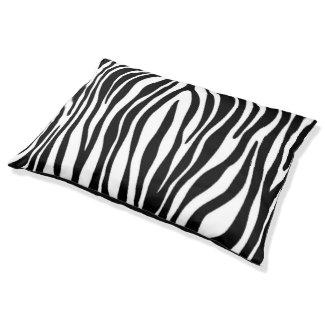 Zebra Print Large Dog Bed