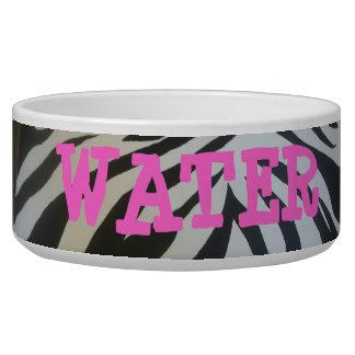Zebra Print Large food or water Bowl! Bowl