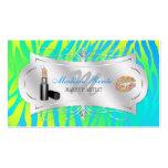 Zebra Print Lemon Lime Glitter Cosmetologist Double-Sided Standard Business Cards (Pack Of 100)