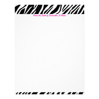 Zebra Print Letterhead