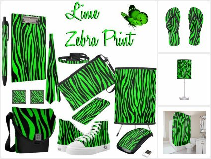 Zebra Print Lime Green