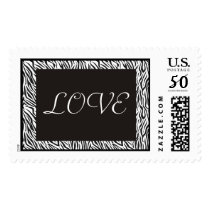 Zebra Print Love Stamps