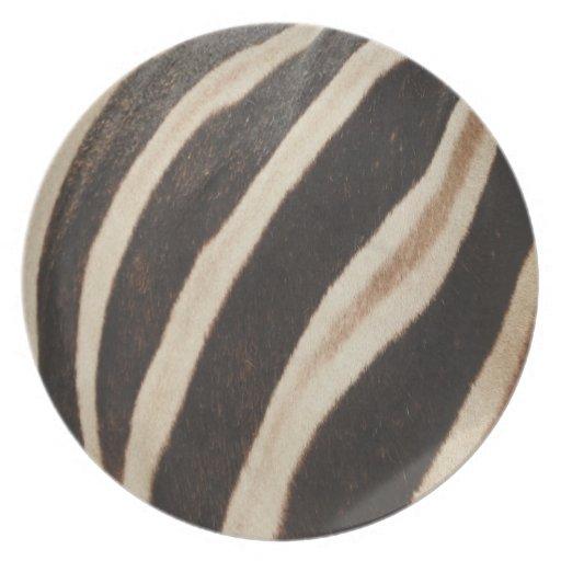 Zazzle Zebra Print Melamine Plate