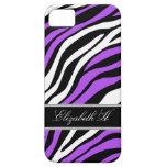 Zebra Print Mix Purple iPhone 5 Case