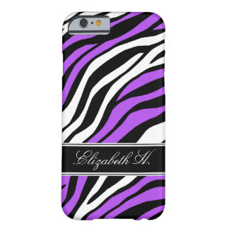 Zebra Print Mix Purple iPhone 6 Case