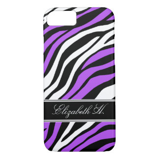 Zebra Print Mix Purple iPhone 7 Case