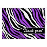 Zebra Print Mix Purple Thank You Cards